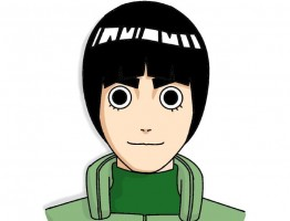 Como dibujar cara Rock Lee