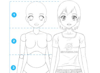 Como dibujar mujer anime