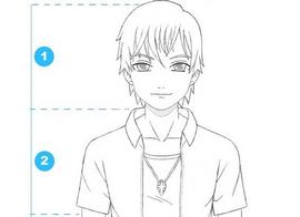 Como dibujar a un Hombre anime (rostro y cuerpo) Pasó a paso