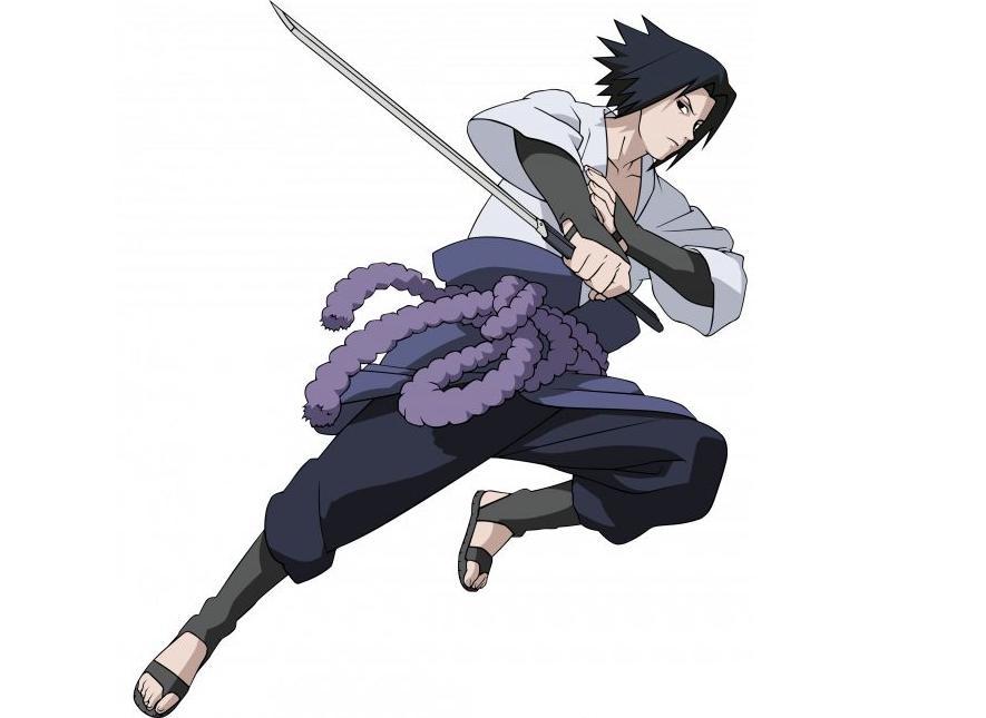 Como dibujar a Sasuke Uchiha (Shippuden) Paso a paso