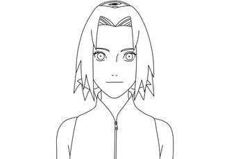 Como dibujar a Sakura Haruno (Shippuden) Paso a paso