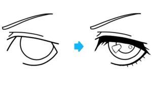 Como dibujar ojos anime femeninos paso a paso – Detalles frontal y perfil