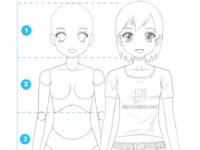 Como dibujar a una mujer anime (cuerpo y rostro) – Paso a paso