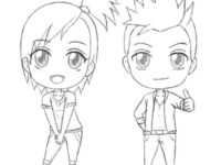 Como dibujar Chibis anime (Mujer y Hombre) Tutorial Paso a paso