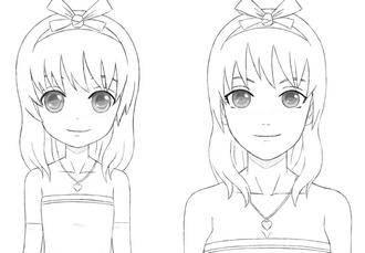Como dibujar: Diferencias entre una niña y mujer adulta anime/manga