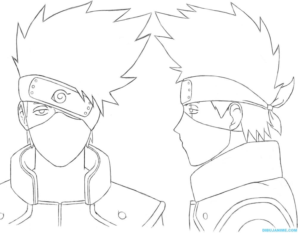 Como Dibujar A Kakashi Hatake Rostro Y Cuerpo Naruto