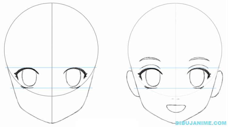 Como dibujar a una mujer anime (cuerpo y rostro) – Paso a