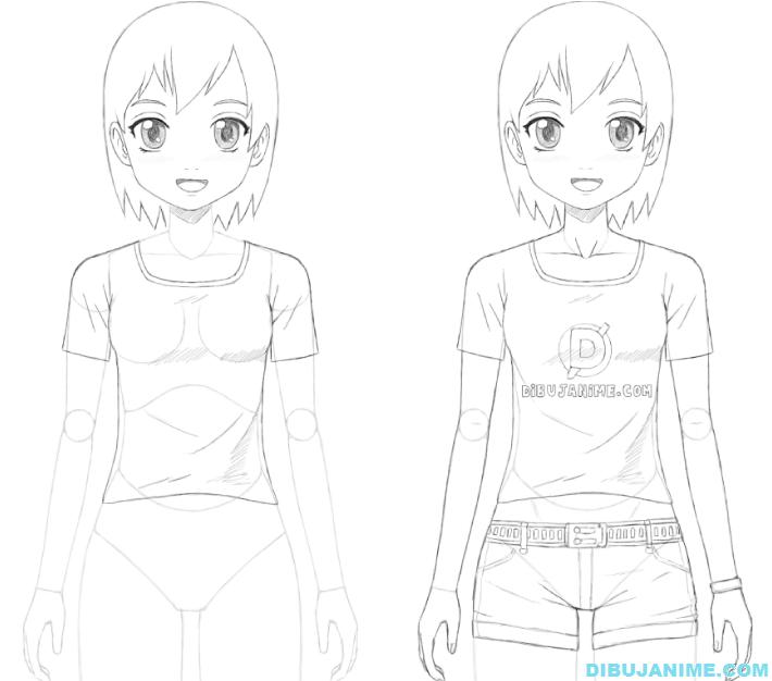 Como dibujar a una mujer anime (cuerpo y rostro) – Paso a paso ...